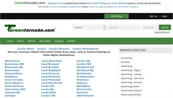 GreenTornado.com - National to local business related information listings.